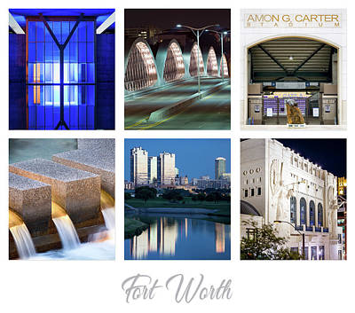 Photograph - Fort Worth Montage 101417 by Rospotte Photography