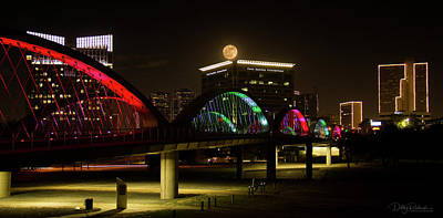 Photograph - Fort Worth Moon Panoramic by Debby Richards