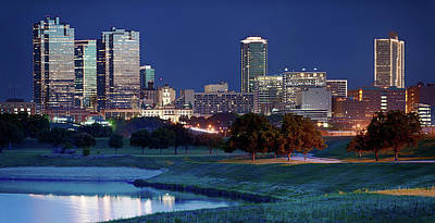 Photograph - Fort Worth Pano 62317 by Rospotte Photography