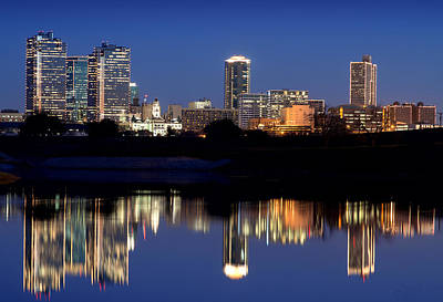 Photograph - Fort Worth Reflection 41916 by Rospotte Photography