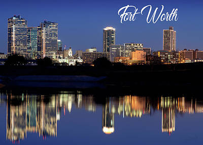 Photograph - Fort Worth Skyline Greeting 5x7 092317 by Rospotte Photography