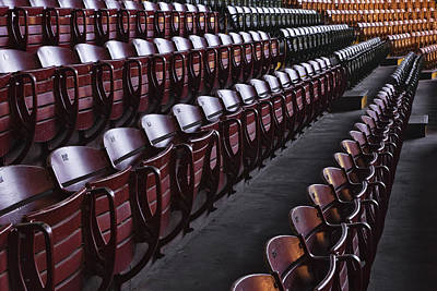 Empty Chairs Photograph - Fort Worth Stockyards Coliseum Seating by Jeremy Woodhouse