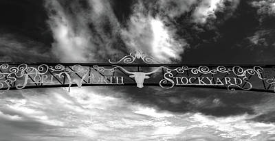 Photograph - Fort Worth Stockyards District Archway by L O C