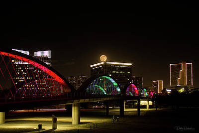 Photograph - Fort Worth Super Moon 1 2017 by Debby Richards