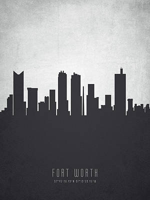 Fort Worth Texas Cityscape 19 Art Print by Aged Pixel