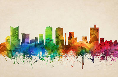 Fort Worth Texas Skyline 05 Art Print by Aged Pixel