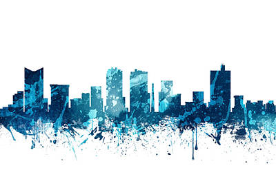 Fort Worth Texas Skyline 19 Art Print by Aged Pixel