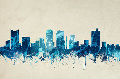 Fort Worth Texas Skyline 20 Art Print by Aged Pixel