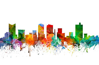 Fort Worth Texas Skyline 21 Art Print by Aged Pixel