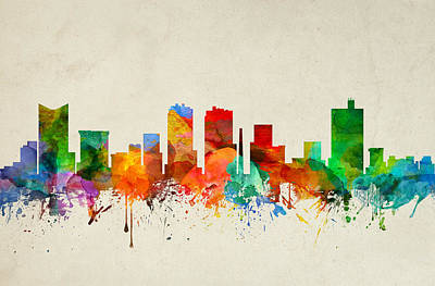 Fort Worth Texas Skyline 22 Art Print by Aged Pixel