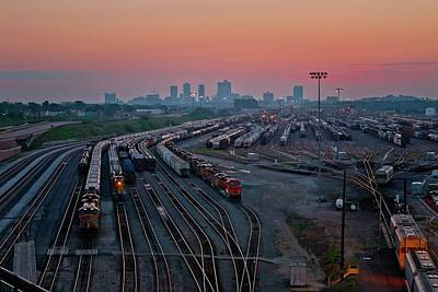 Fort Worth Trainyards Art Print
