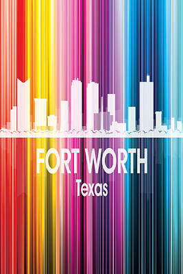 Digital Art - Fort Worth Tx 2 Vertical by Angelina Tamez
