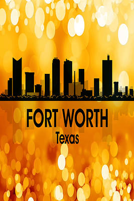 Digital Art - Fort Worth Tx 3 Vertical by Angelina Tamez