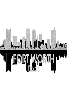Digital Art - Fort Worth Tx 4 Vertical by Angelina Tamez