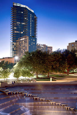 Photograph - Fort Worth Water Gardens Omni by Rospotte Photography