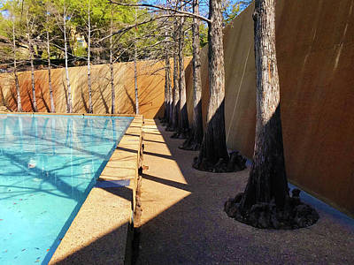 Photograph - Fort Worth Water Gardens - Quiet Pool 3 by Robert J Sadler
