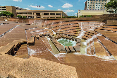 Photograph - Fort Worth Water Gardens by Ray Sheley