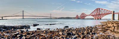 Forth Bridges Panorama Art Print