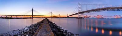 Photograph - Forth Bridges Panorama by Scott Masterton