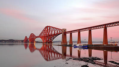 Photograph - Forth Railway Bridge Sunset by Grant Glendinning