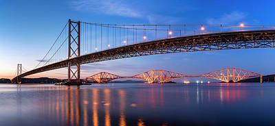 Photograph - Forth Road Rail Bridges by Scott Masterton