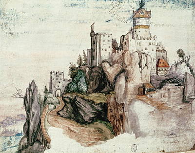 Hill Top Village Painting - Fortified Castle by Albrecht Durer