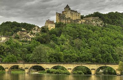 Fortified Castle Of Beynac In Dordogne France Art Print by Arabesque Saraswathi
