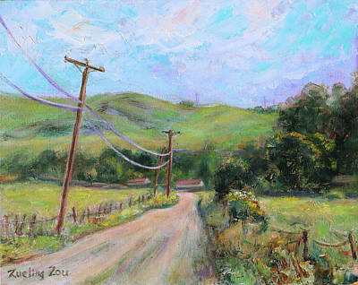 Painting - Fortini Trailhead San Vicente San Jose California Landscape 13 by Xueling Zou