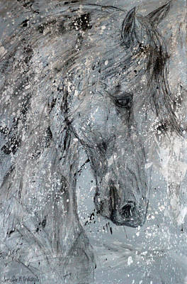 Painting - Fortitude Abstract Horse Painting by Jennifer Morrison Godshalk