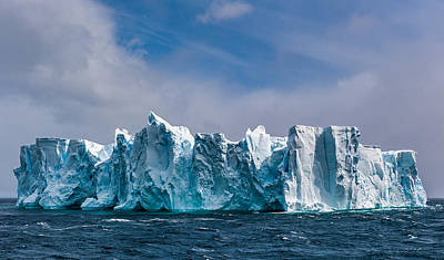 Iceberg Painting - Fortress Antarctica - Iceberg Photograph by Duane Miller