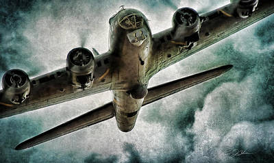 B-17 Wall Art - Digital Art - Fortress Flyover by Peter Chilelli