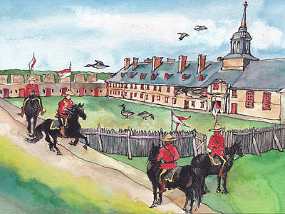 Canadian Culture Painting - Fortress Of Louisburg by Yimeng Bian