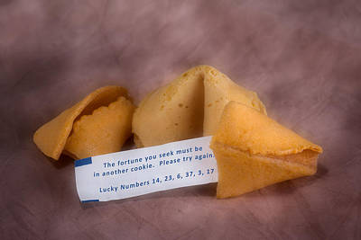 Dessert Photograph - Fortune Cookie Fail by Tom Mc Nemar