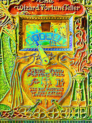 Playland Photograph - Fortune Teller Machine 20161108v2 by Wingsdomain Art and Photography