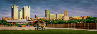Photograph - Fortworth Texas Cityscape by Brad Thornton