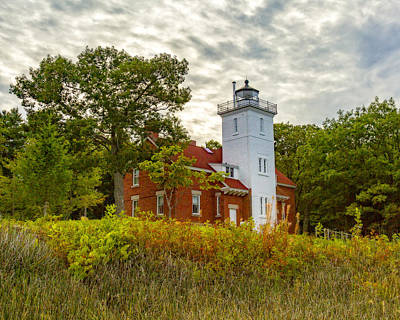 Photograph - Forty Mile Point Lighthouse Lake Huron Lower Peninsilat Mi  by Jack R Perry