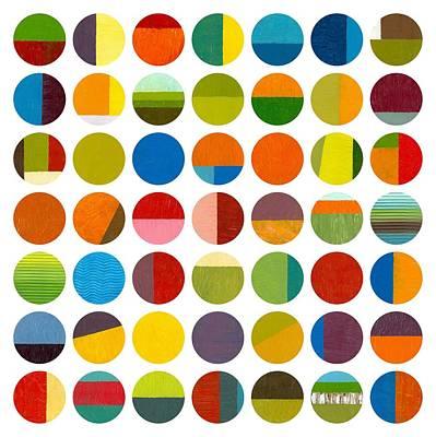 Forty Nine Circles Art Print