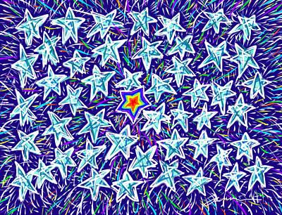 Painting - Forty Nine Stars by Jean Pacheco Ravinski