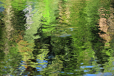 Photograph - Forty Shades Of Green. Water Abstract by Jenny Rainbow