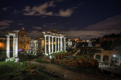 Photograph - Forum By Night by James Billings