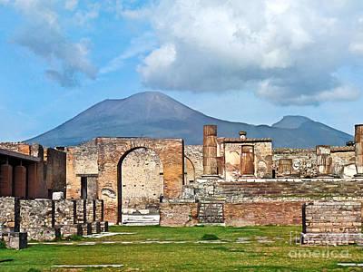 Pompeii Photograph - Forum Pompeii by Lutz Baar