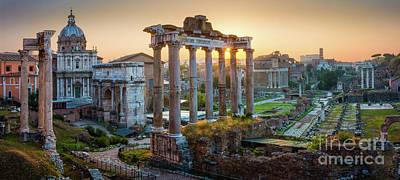 Forum Romanum Panorama Art Print by Inge Johnsson