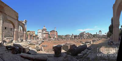 Photograph - Forum Romanum Rome by Rudi Prott