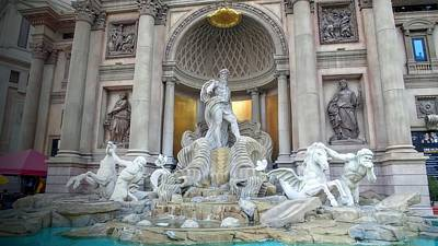 Forum Shops Statues At Ceasars Palace Art Print