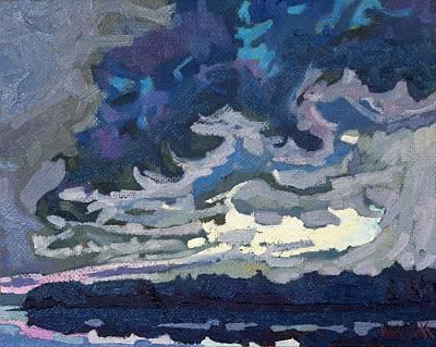 Thunder Painting - Forward Flank Rain by Phil Chadwick