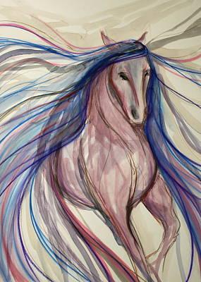 Sporthorse Mixed Media - Forward Motion by Jennifer Fosgate