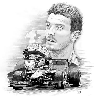 Formula One Drawing - Forza Jules by Robin DaSilva