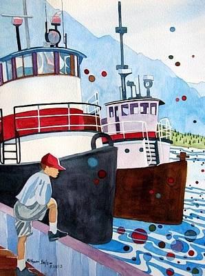 Painting - Foss Tugs by Sherri Bails
