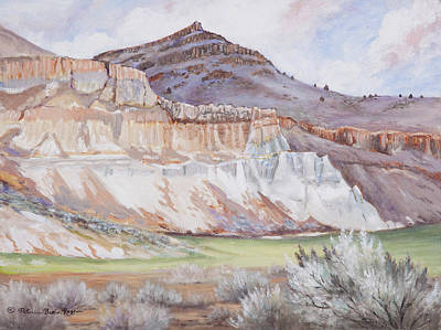 Painting - Fossil Beds  by Patricia Baehr-Ross