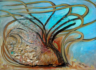 Painting - Fossil In The Deep by Suzanne McKee